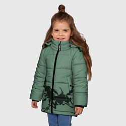 Куртка зимняя для девочки Черные кони цвета 3D-черный — фото 2