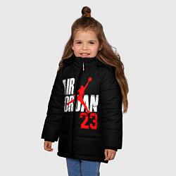 Куртка зимняя для девочки MICHAEL JORDAN цвета 3D-черный — фото 2