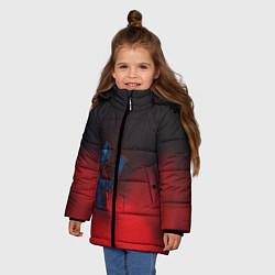 Куртка зимняя для девочки Скриптонит цвета 3D-черный — фото 2