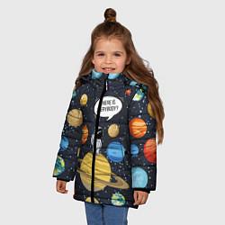 Куртка зимняя для девочки Where is Everybody? цвета 3D-черный — фото 2