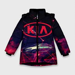 Куртка зимняя для девочки КIA цвета 3D-черный — фото 1
