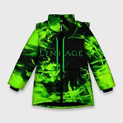 Детская зимняя куртка для девочки с принтом LINEAGE 2, цвет: 3D-черный, артикул: 10202647506065 — фото 1