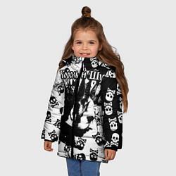 Куртка зимняя для девочки Король и Шут цвета 3D-черный — фото 2