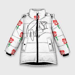 Куртка зимняя для девочки ТИКТОКЕР - PAYTON MOORMEIE цвета 3D-черный — фото 1