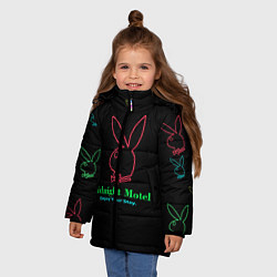 Куртка зимняя для девочки ТИКТОКЕР - PAYTON MOORMEIE цвета 3D-черный — фото 2