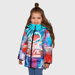 Куртка зимняя для девочки Гоку цвета 3D-черный — фото 2