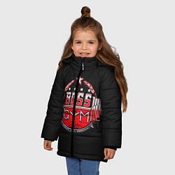 Куртка зимняя для девочки Boss of GYM акварель цвета 3D-черный — фото 2
