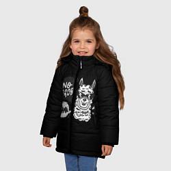 Куртка зимняя для девочки Лама: Нет проблем цвета 3D-черный — фото 2