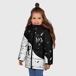 Куртка зимняя для девочки ЪУЪ цвета 3D-черный — фото 2