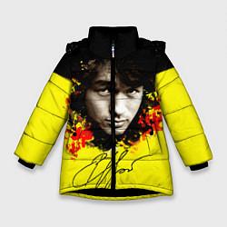 Куртка зимняя для девочки Виктор Цой цвета 3D-черный — фото 1