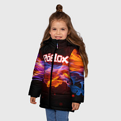Куртка зимняя для девочки ROBLOX цвета 3D-черный — фото 2