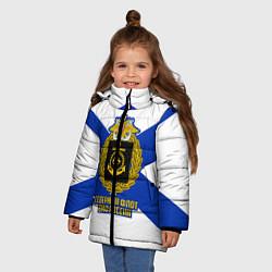 Куртка зимняя для девочки Северный флот ВМФ России цвета 3D-черный — фото 2