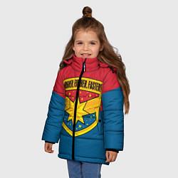 Куртка зимняя для девочки Higher, Further, Faster - фото 2