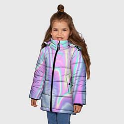 Куртка зимняя для девочки Vaporwave цвета 3D-черный — фото 2