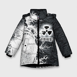 Куртка зимняя для девочки Сталкер цвета 3D-черный — фото 1