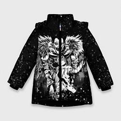 Куртка зимняя для девочки DEATH NOTE цвета 3D-черный — фото 1