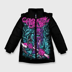 Куртка зимняя для девочки Conducting from the Grave цвета 3D-черный — фото 1