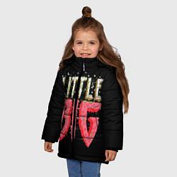 Куртка зимняя для девочки Little Big цвета 3D-черный — фото 2