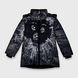 Куртка зимняя для девочки ЧЕРНОЕ ЗЕРКАЛО цвета 3D-черный — фото 1