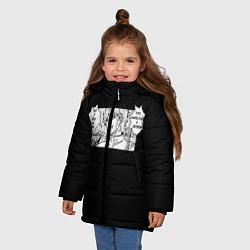 Куртка зимняя для девочки Jojo Bizarre Adventure, Dio цвета 3D-черный — фото 2