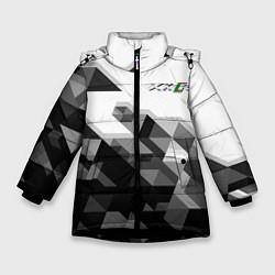 Куртка зимняя для девочки Jaguar XKR цвета 3D-черный — фото 1