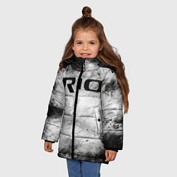 Куртка зимняя для девочки KIA RIO цвета 3D-черный — фото 2
