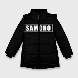 Куртка зимняя для девочки Soa цвета 3D-черный — фото 1