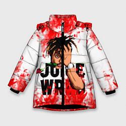 Детская зимняя куртка для девочки с принтом Juice WRLD, цвет: 3D-черный, артикул: 10212959906065 — фото 1