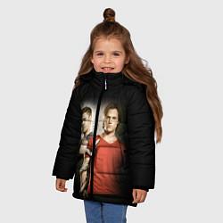 Куртка зимняя для девочки Supernatural цвета 3D-черный — фото 2