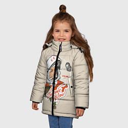 Куртка зимняя для девочки Спасибо, Юра! цвета 3D-черный — фото 2