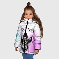 Куртка зимняя для девочки Тетрадь смерти цвета 3D-черный — фото 2