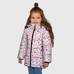 Куртка зимняя для девочки Зайчики цвета 3D-черный — фото 2