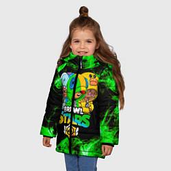 Куртка зимняя для девочки Brawl Stars Leon Trio цвета 3D-черный — фото 2