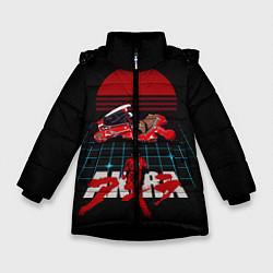 Куртка зимняя для девочки AKIRA цвета 3D-черный — фото 1