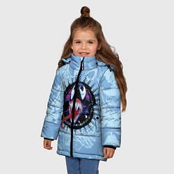 Куртка зимняя для девочки Venom цвета 3D-черный — фото 2