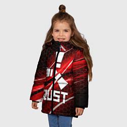 Куртка зимняя для девочки RUST цвета 3D-черный — фото 2