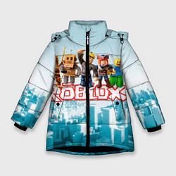 Куртка зимняя для девочки ROBLOX 5 цвета 3D-черный — фото 1