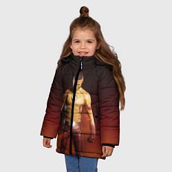 Куртка зимняя для девочки Wally West цвета 3D-черный — фото 2