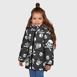 Детская зимняя куртка для девочки с принтом Scorpions, цвет: 3D-черный, артикул: 10220591306065 — фото 2