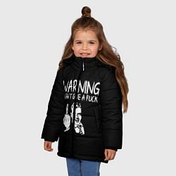 Куртка зимняя для девочки Warning цвета 3D-черный — фото 2