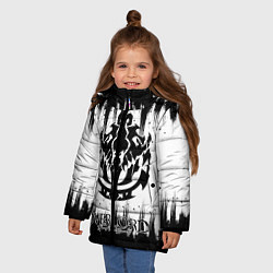 Куртка зимняя для девочки Overlord цвета 3D-черный — фото 2