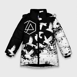 Куртка зимняя для девочки LINKIN PARK 1 цвета 3D-черный — фото 1