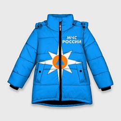 Куртка зимняя для девочки МЧС России цвета 3D-черный — фото 1