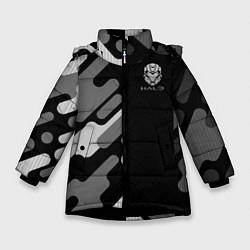 Куртка зимняя для девочки Halo цвета 3D-черный — фото 1