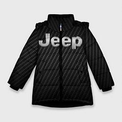 Детская зимняя куртка для девочки с принтом Jeep Z, цвет: 3D-черный, артикул: 10237245506065 — фото 1