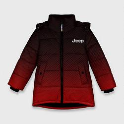 Куртка зимняя для девочки Jeep спина Z цвета 3D-черный — фото 1