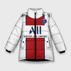 Куртка зимняя для девочки PSG away 20-21 цвета 3D-черный — фото 1