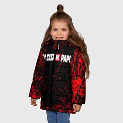 Куртка зимняя для девочки La Casa de Papel спина Z цвета 3D-черный — фото 2
