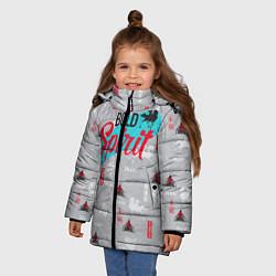 Куртка зимняя для девочки Bold Spirit цвета 3D-черный — фото 2
