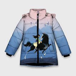 Куртка зимняя для девочки Mulan in the mountains цвета 3D-черный — фото 1